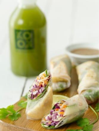 Tofu Springrolls & Peanut Sauce