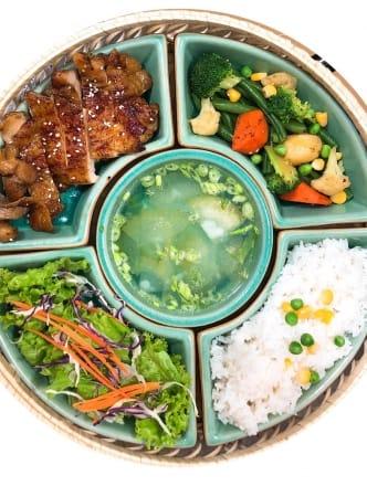 chicken teriyaki rice set