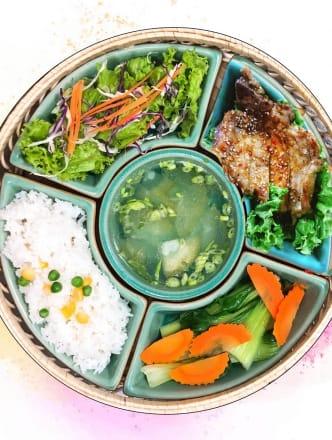 Girlled Pork Chop & Rice